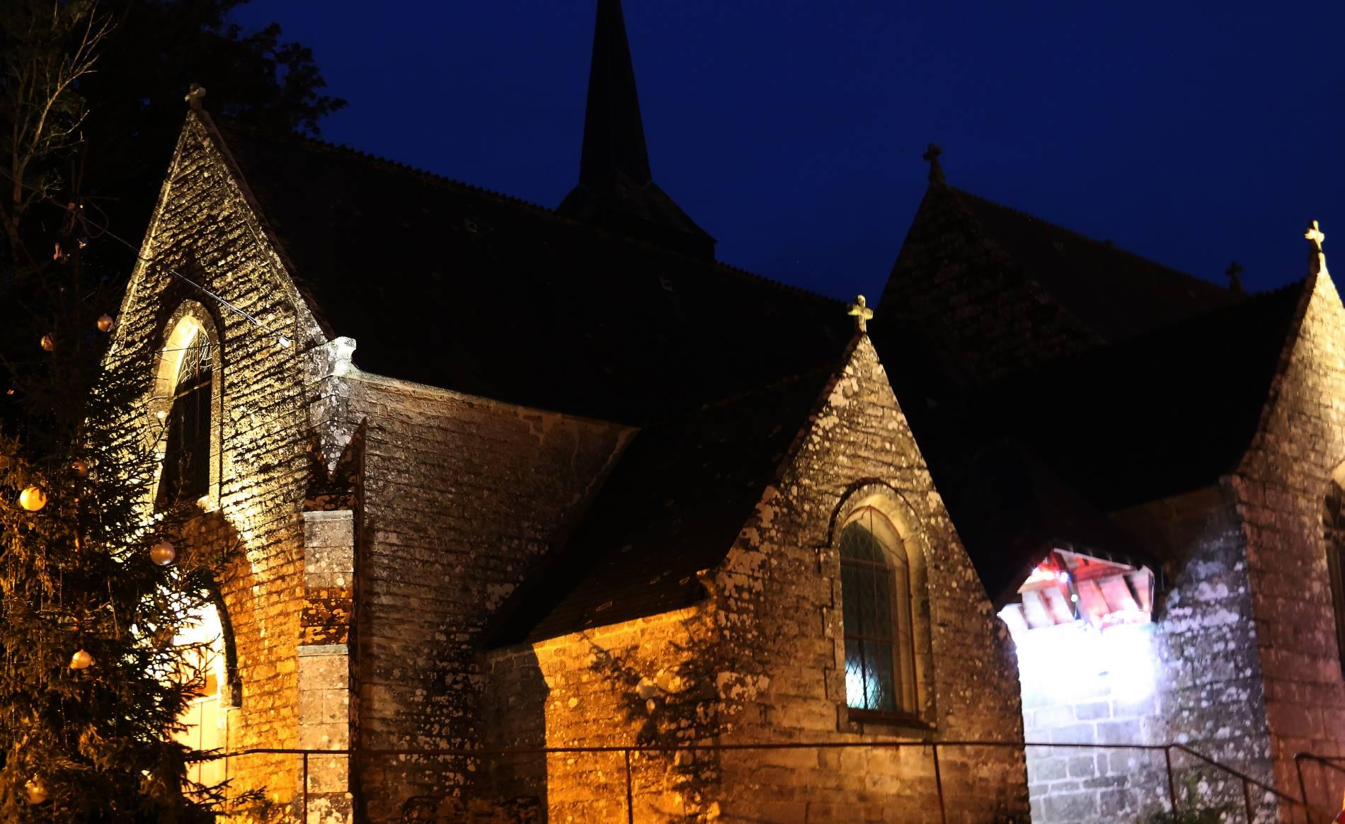 L'église de Saint Aubin mise en lumière