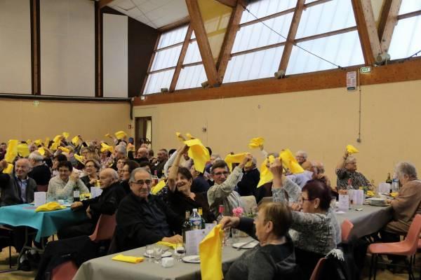 Le repas du CCAS rassemble chaque année de nombreuses personnes